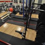 Squat rack & bumper plates